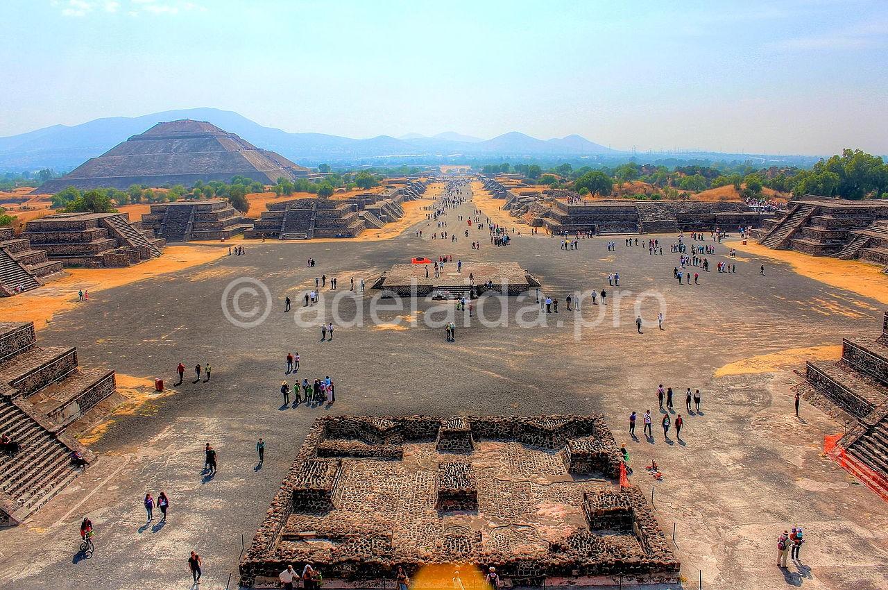 Мертвый город богов Теотиуакан в Мексике