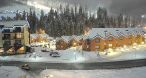 Популярный лыжный курорт Буковель в Карпатах